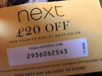 £20 off next