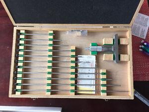 "0-12"" depth mitutoyo micrometer set"