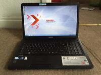 "Toshiba C670 17.3"" 500GB 4GB Windows 7 laptop"