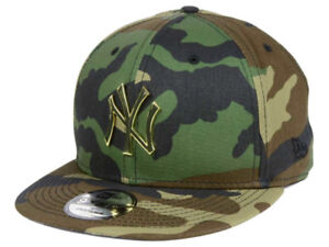 NY Yankees New Era MLB Camo O'Gold 9FIFTY Snapback Cap-BrandNew