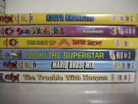 Lot of 7 Super Mario Cartoon DVDs (All 7 for $10)