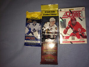 New Sealed Hockey Card Packs and boxes