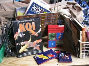 KOI and pond books and coasters