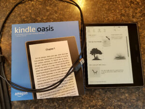 Kindle Oasis 2 package with 88 books worth $1410