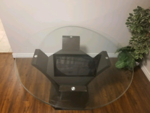 Round glass dining table *Negotiable*