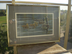 """Robert Bateman Signed A/P """"Canada Geese with Young""""- Print Kitchener / Waterloo Kitchener Area image 2"""
