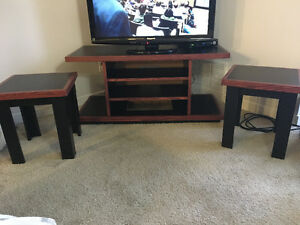 TV stand and 2 end tables