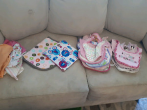 Infant Toques, bibs, teething necklace