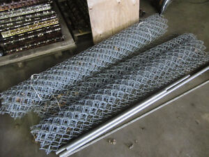 Galvanized Chain Link Fence 6 Foot High 27.5 Feet + Accessories Kitchener / Waterloo Kitchener Area image 1