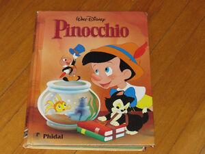 livre B.D. PINOCCHIO/WALT DISNEY littéraure enfant auteur