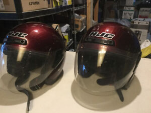Pair of Matching HJC Motorcycle Helmets