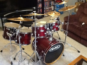 MAPEX M SERIES - 7 PIECE - SHELLS / HARDWARE / CYMBALS / THRONE