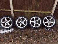 Astra / zafira penta alloys with 225/45/18 tyres 07594145438