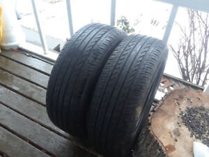 Two 16 inch all season tires used 2 seasons.  Asking $30 OBO