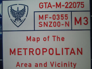 Map of the GTA (From FLASHPOINT TV Series!!!!) --- $190, OBO!!