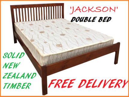 BRAND NEW Double Bed SOLID TIMBER Bed Frame DELIVERED FREE
