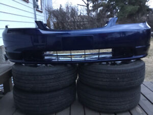 Blue Front Bumper Cover for 2001 - 2003 Honda Civic