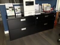 Black Lateral 2 Drw Filing cabinets