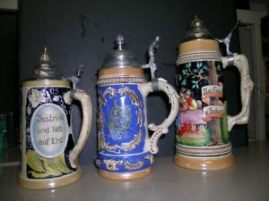 Beautiful German Beer Steins