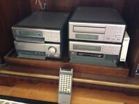 Denon D-200 mini Stereo System with Wharfedale Mach 9 speakers