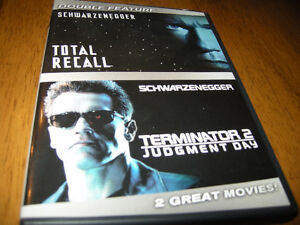 dvd total recall/ terminator 2 judgment day