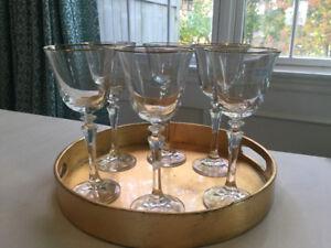 6 Crystal SCHOTT Wine Glasses