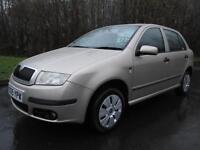 05/05 SKODA FABIA 1.4 TDI PD AMBIENTE 5DR HATCH IN MET BEIGE WITH 78,000 MILES