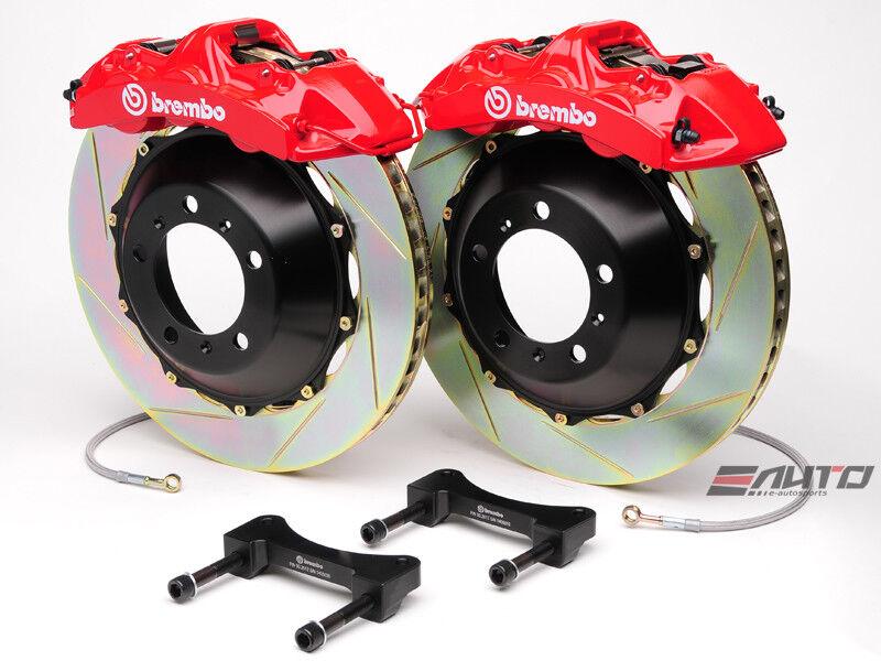 Brembo Front Gt Bbk Brake 6pot Caliper Red 365x34 Slot Rotor Wrangle Jk 07-13