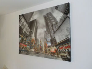 2 Large pictures of New York City on canvas