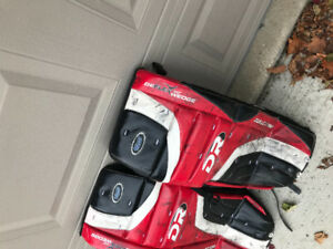 Goalie pads, pants and arm and chest protector for sale