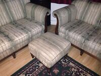 3 seater and 2 seater sofa + foot stool can deliver