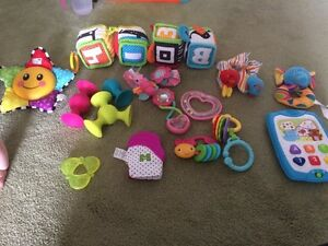Various toys for young babies