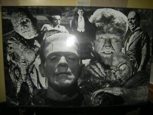 UNIVERSAL MONSTERS LAMINATED POSTER FOR SALE