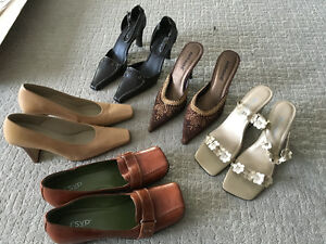 Assorted ladies shoes in size 7.