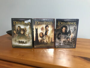 Lord of the rings set of 3 unopened still wrapped