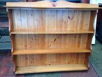 !!REDUCED!! Pine plate rack retro vintage/dresser top