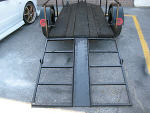 "motor cycle low trailer  9 ft by 45"" drop ramp with channel &4x4 Kingston Kingston Area image 3"
