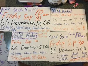 Yard sale! This Friday