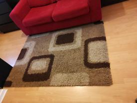 Shaggy brown rug