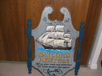"""vintage 24"""" wooden wall hanging"""