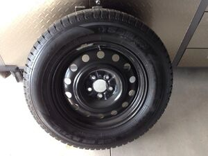 Set of 4 winter tires on the rims