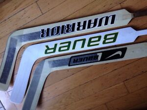 Bauer, Reebok, Warrior Goalie Sticks