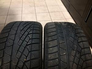 Winter tires Pirelli Soto Zero, 75% thread left 255/45/18