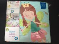 Fairy princess lined curtains BRAND NEW