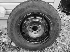 205/75/15 Goodyear Ultra Grip Winter Tires with Rims