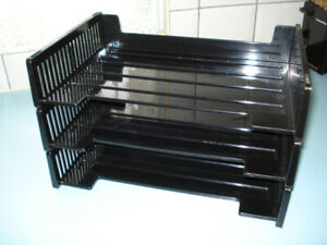 3~OFFICE DOCUMENT TRAYS~**STACKABLE