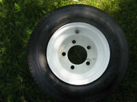 Trailer Tire and Rims, Never Used