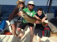 Fishing charters on Lake Ontario, Grimsby.