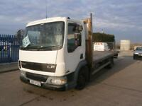 2003 03 DAF TRUCKS FA LF45.150 7500KG SCAFFOLD LORRY FLATBED TRUCK 20FT BODY