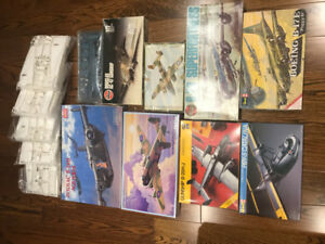 Scale Model Kits - 14 WW2 Military Aircraft-1/72 - Lot